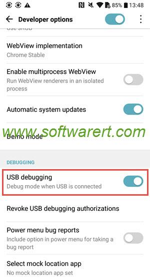 turn on usb debugging on lg mobile phone