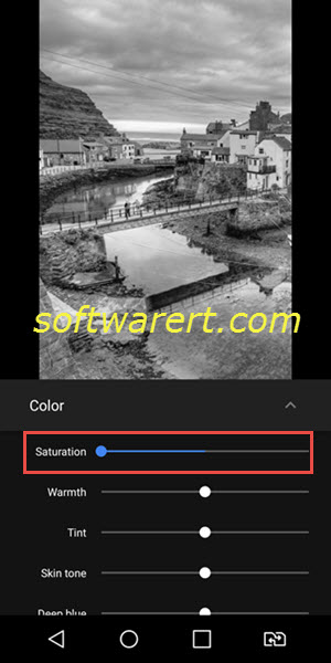 convert color photo to black white on lg mobile phone
