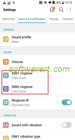 lg mobile phone ringtone settings