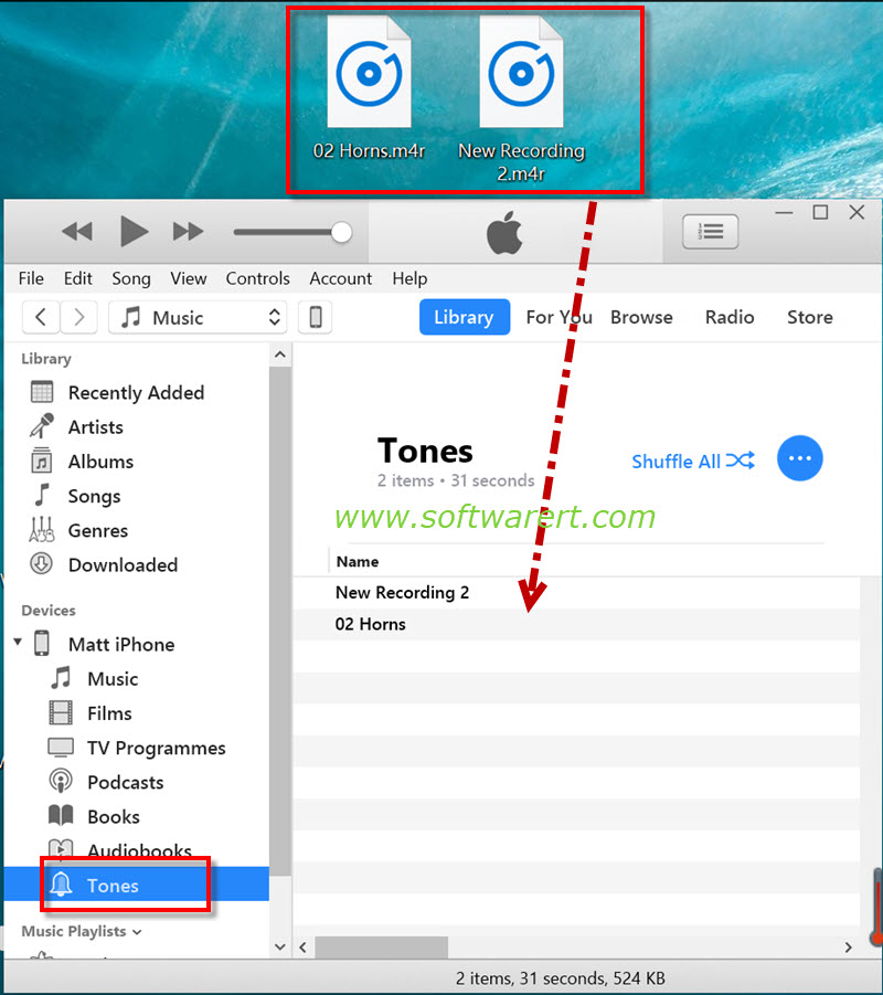 Sync Ringtones to iPhone through iTunes – Software Review RT