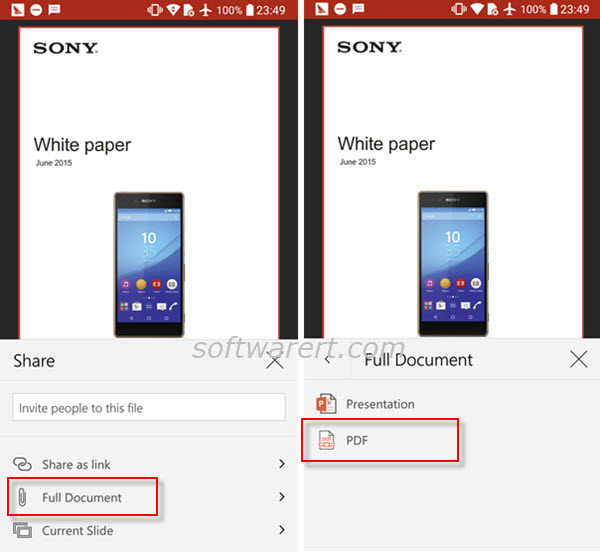 How To Convert Powerpoint To Pdf On Android Phone Software Rt