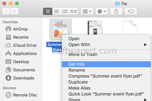 get file info in finder on mac