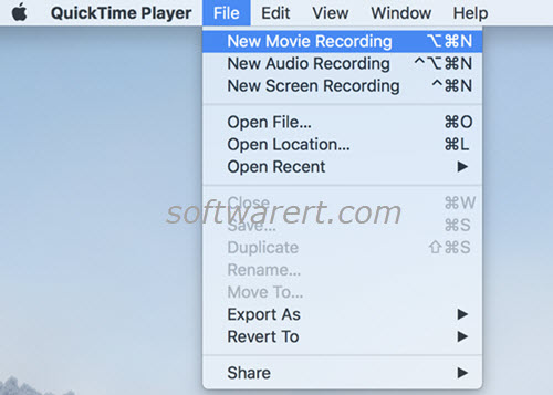 quicktime player for mac new movie recording
