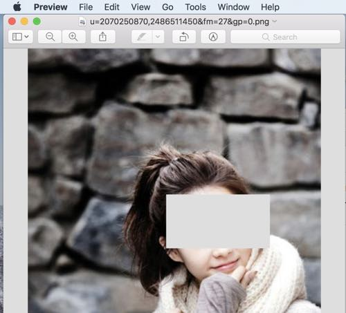 blur, pixelate images, photos in preview on mac