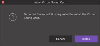 install virtual sound card Mac video converter