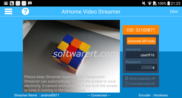 athome video streamer android