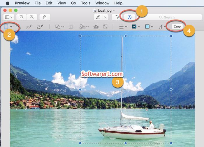 crop images with preview app on mac