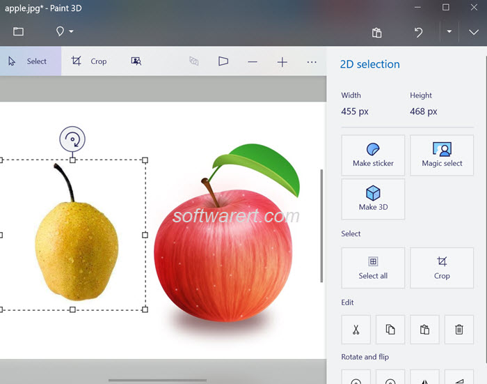 Merge photos in Windows 10 with Paint 3D