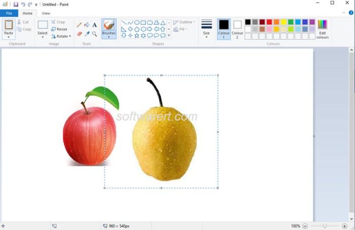 combine, merge photos in paint on windows pc