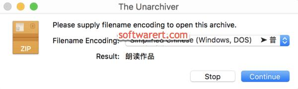 Decompress files with foreign characters in file names on Mac
