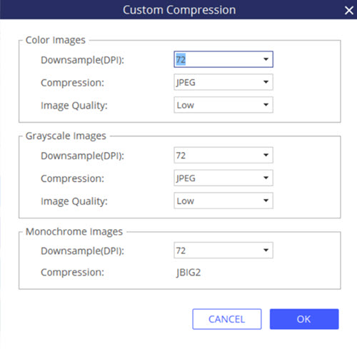 pdf custom compression pdfelement windows