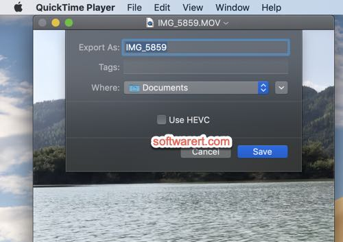 Converting HEVC to H264 on Mac with QuickTime Player