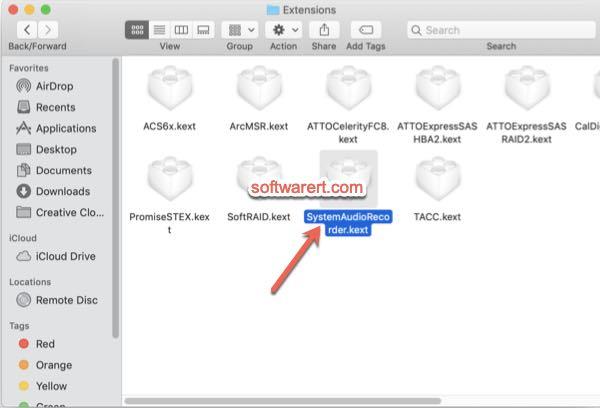 delete virtual sound card Mac systemaudiorecorder