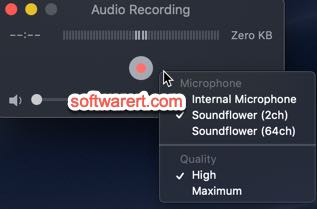 quicktime player to record audio from soundflower on mac