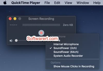Quicktime player to record screen and internal sound from Mac system using soundflower