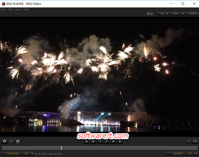 R3D video RED Player for Windows