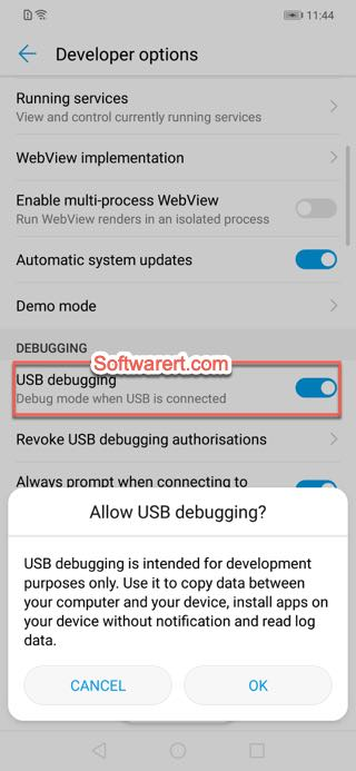 usb debugging developer options huawei mobile phones