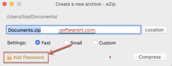 Password protect zip files on Mac