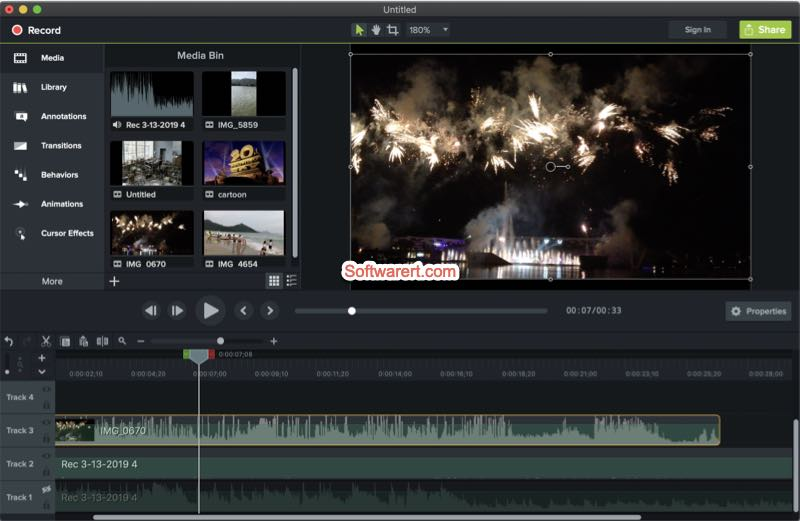 Camtasia screen recorder, video editor for mac