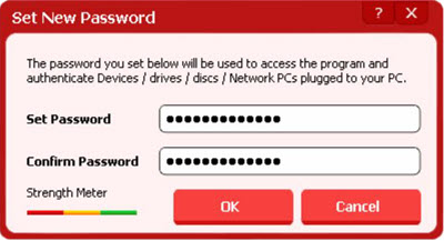 USB block set password protection windows