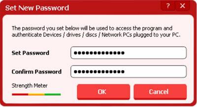 USB block set password protection windows