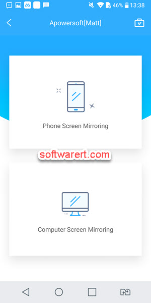 android phone and pc mirroring modes - apower phone mirror