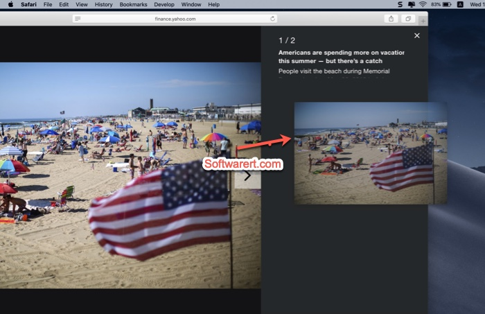 Drag & drop to save photos from Safari on Mac