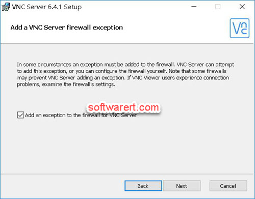 Setup RealVNC server on PC