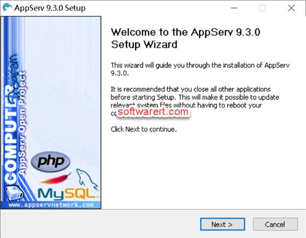 setup appserv on windows computer