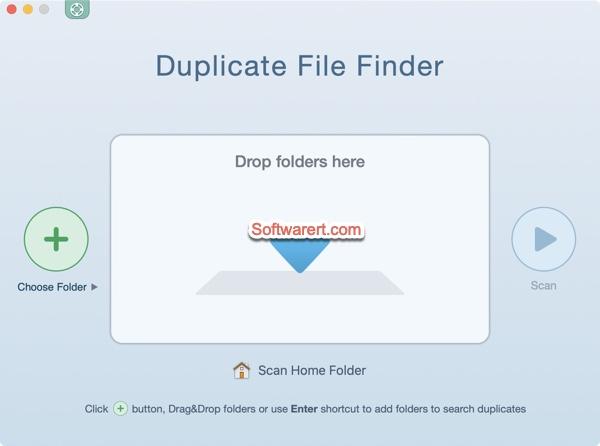 Duplicate File Finder Remover for Mac - choose folder