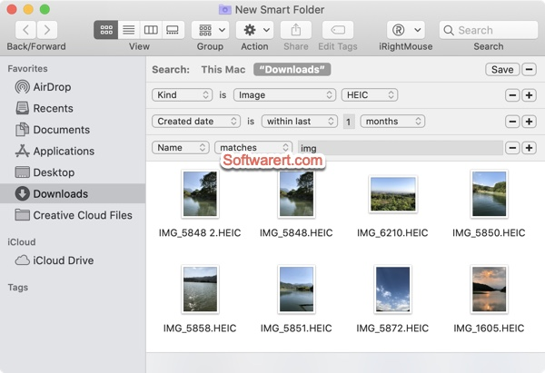Search duplicate photos using Finder Smart Folder on Mac