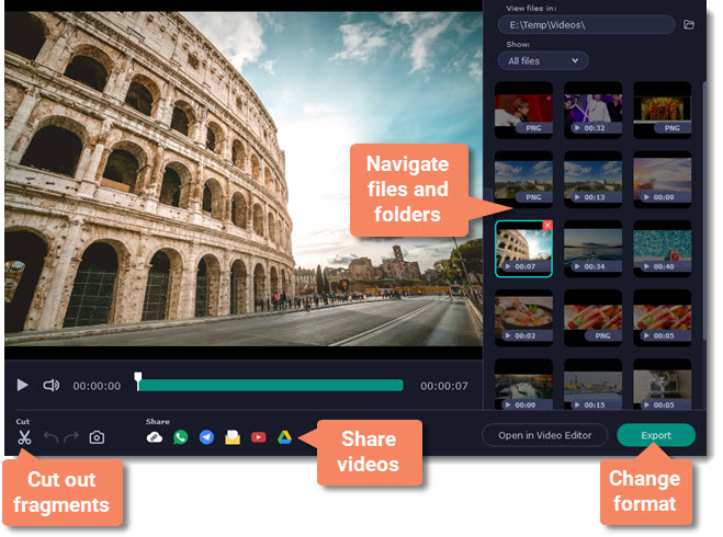 movavi screen recorder preview edit share save video