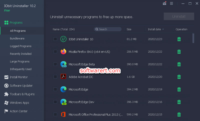 free IObit Uninstaller for Windows