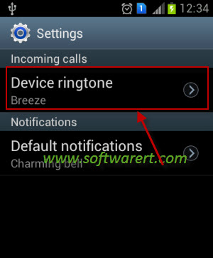 activate ringtone on samsung-mobile