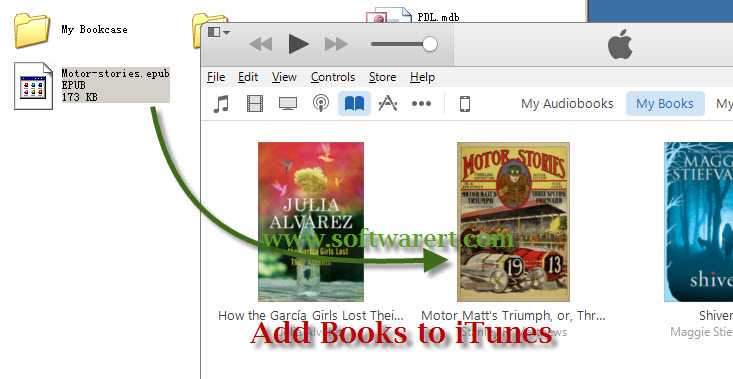 add books to itunes library