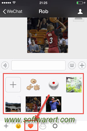 add custom stickers to chats in wechat for iphone