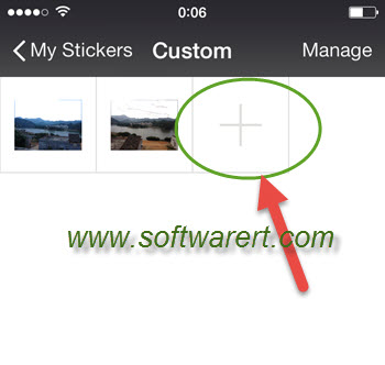 add custom stickers to wechat on iphone