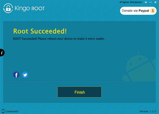 android rooting finished