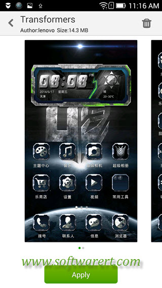 Download new themes on Lenovo mobile phone