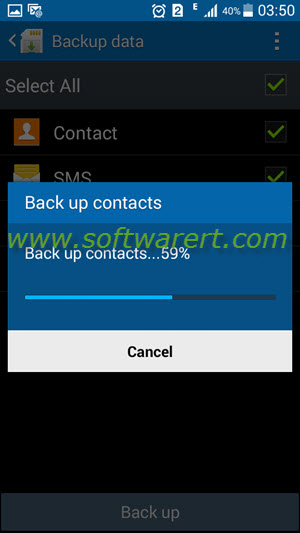 back up contacts SMS on samsung mobile phone