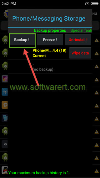 backup text messages on android phone using titanium backup app