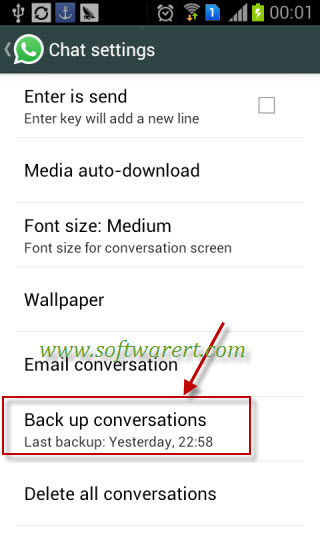 backup whatsapp messages on Android phone