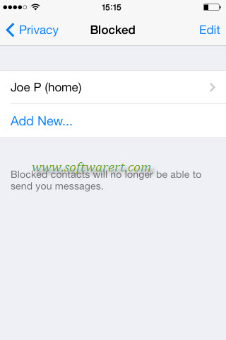 blocked contacts in whatsapp on iphone