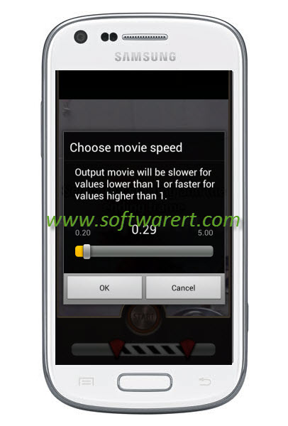 choose slow-mo video speed on samsung mobile phone