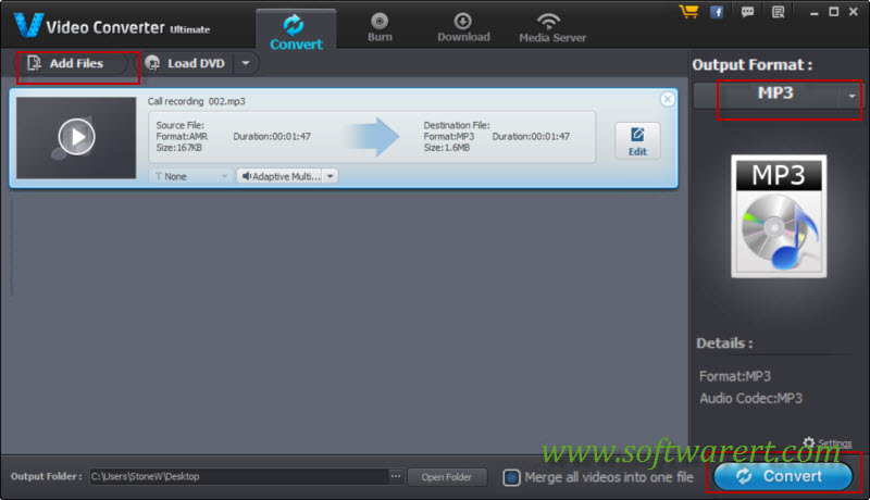 convert samsung call recordings amr to mp3