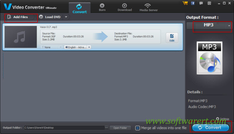 convert samsung voice recordings to mp3