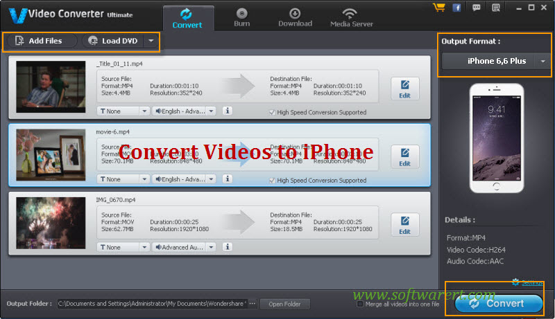 convert videos to iphone