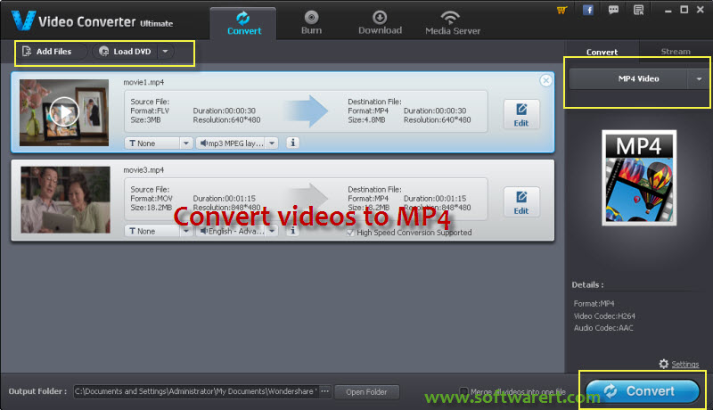 convert videos to mp4 properly