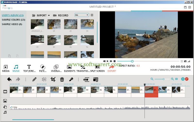 create Instagram photo slideshow movie with filmora