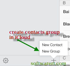 create contacts groups in icloud